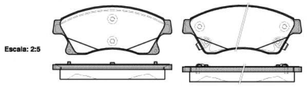 Комплект тормозных колодок, дисковый тормоз REMSA арт. 143112