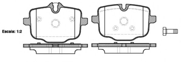 Комплект тормозных колодок, дисковый тормоз REMSA арт. 143300