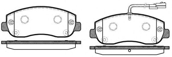 Комплект тормозных колодок, дисковый тормоз REMSA арт. 144901