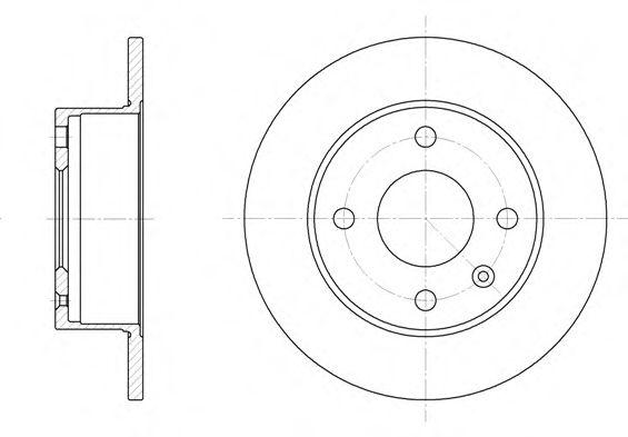 Тормозной диск REMSA арт. 609500
