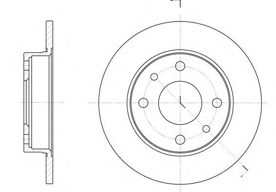 Тормозной диск REMSA арт. 611000