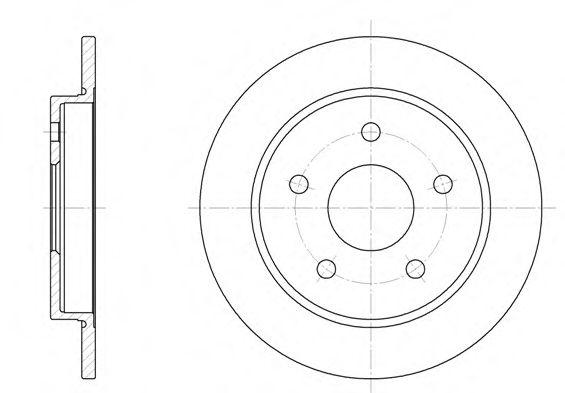 Тормозной диск REMSA арт. 614700