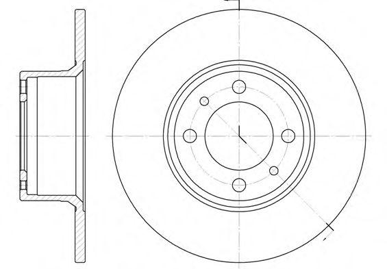 Тормозной диск REMSA арт. 615600