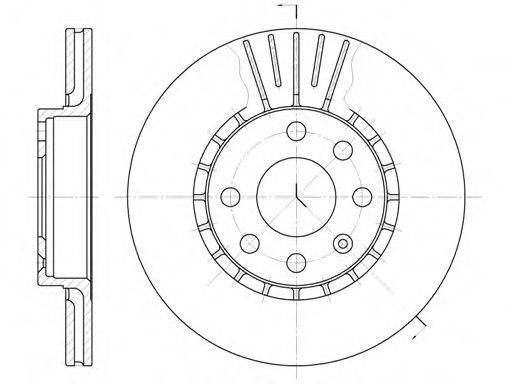 Тормозной диск REMSA арт. 617410