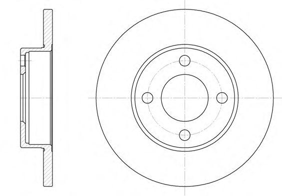 Тормозной диск REMSA арт. 618100