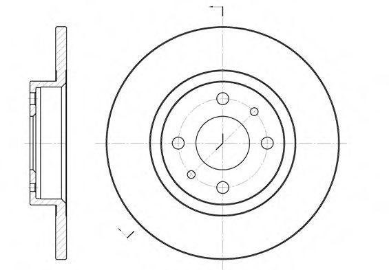 Тормозной диск REMSA арт. 619100