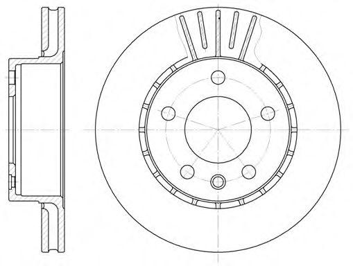 Тормозной диск REMSA арт. 620210