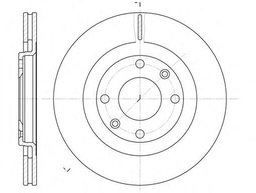 Тормозной диск REMSA арт. 624010