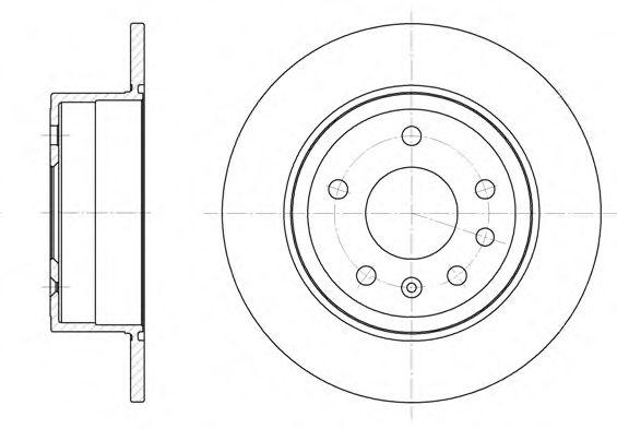 Тормозной диск REMSA арт. 624900