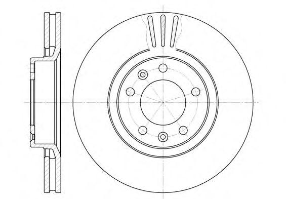 Тормозной диск REMSA арт. 630710