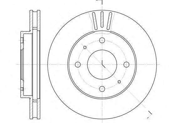 Тормозной диск REMSA арт. 639411