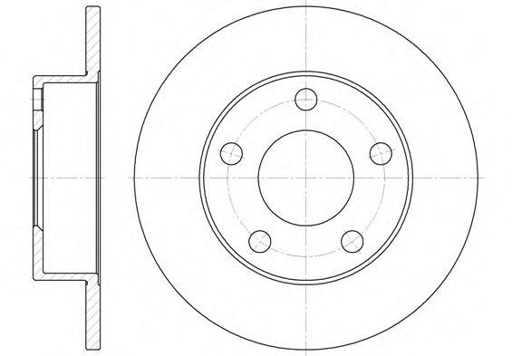 Тормозной диск REMSA арт. 651300