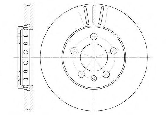 Тормозной диск REMSA арт. 654510