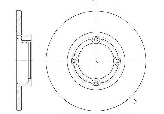 Тормозной диск REMSA арт. 660600