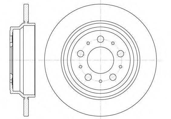 Тормозной диск REMSA арт. 662000