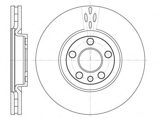 Тормозной диск REMSA арт. 665810