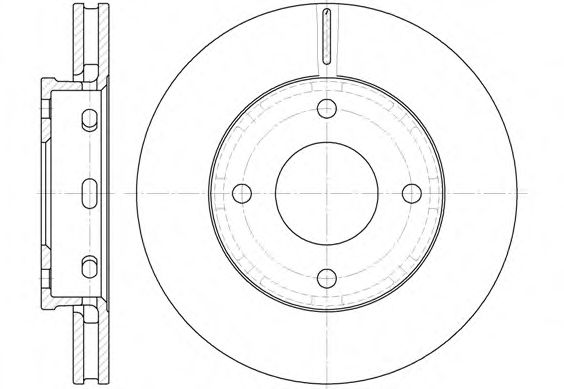 Тормозной диск REMSA арт. 668010