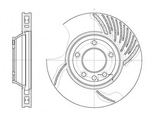 Тормозной диск REMSA арт. 676910