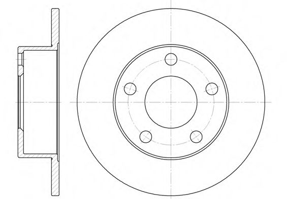 Тормозной диск REMSA арт. 680300