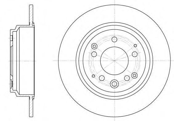 Тормозной диск REMSA арт. 692200