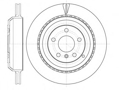 Тормозной диск REMSA арт.