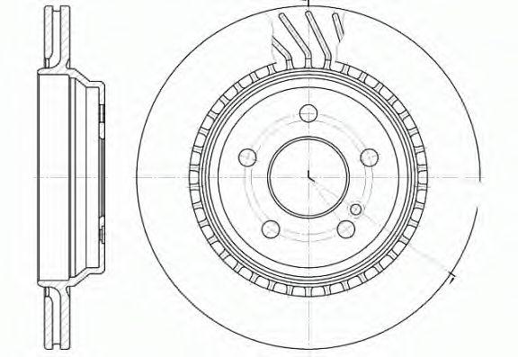 Тормозной диск REMSA арт. 6107210