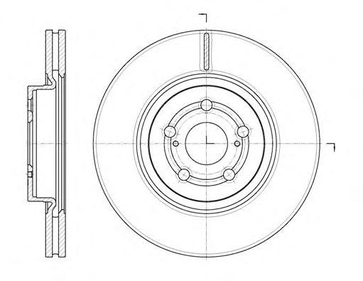 Тормозной диск REMSA арт. 6109210