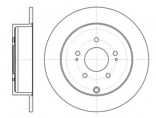 Тормозной диск REMSA арт. 6109800