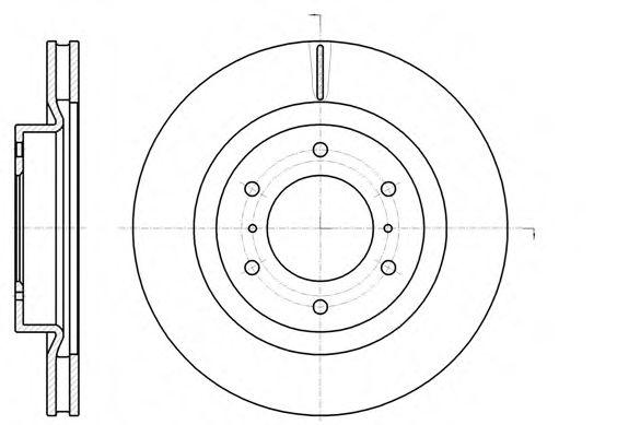 Тормозной диск REMSA арт. 6110010