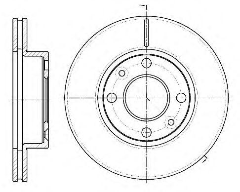 Тормозной диск REMSA арт. 6116210