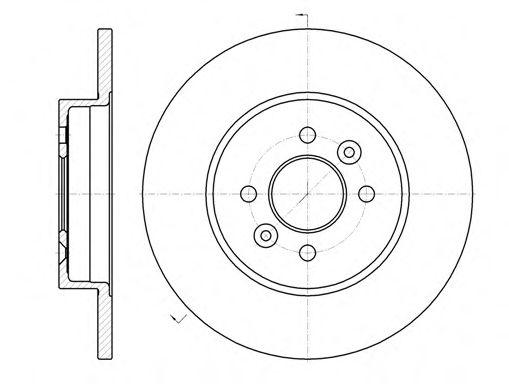Тормозной диск REMSA арт. 6117600