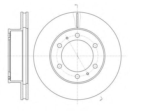 Тормозной диск REMSA арт. 6120510