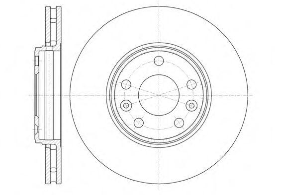 Тормозной диск REMSA арт. 6134410