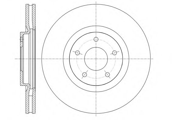 Тормозной диск REMSA арт. 6134910