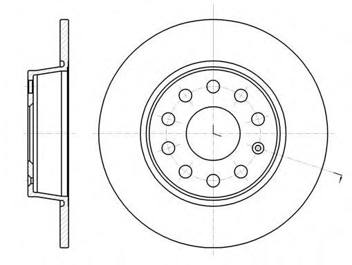 Тормозной диск REMSA арт. 6134000
