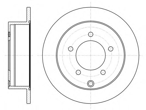 Тормозной диск REMSA арт. 6137700