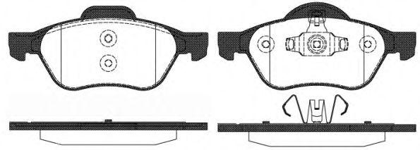 Комплект тормозных колодок, дисковый тормоз REMSA арт. 096210