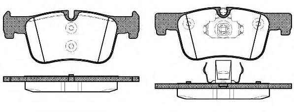 Комплект тормозных колодок, дисковый тормоз REMSA арт. 147800