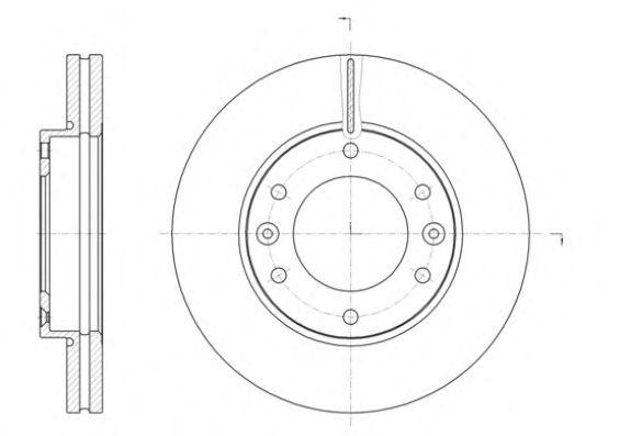 Тормозной диск REMSA арт. 6139610