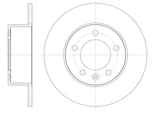Тормозной диск REMSA арт. 6141200