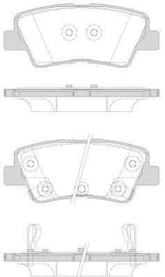 Комплект тормозных колодок, дисковый тормоз REMSA арт. 136242