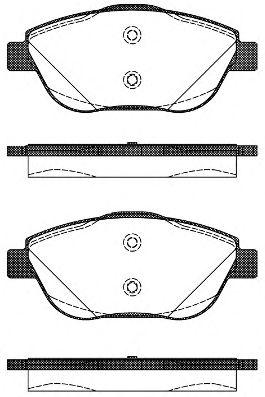 Комплект тормозных колодок, дисковый тормоз REMSA арт. 139210