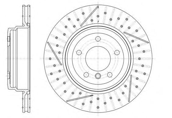 Тормозной диск REMSA арт. 6145110
