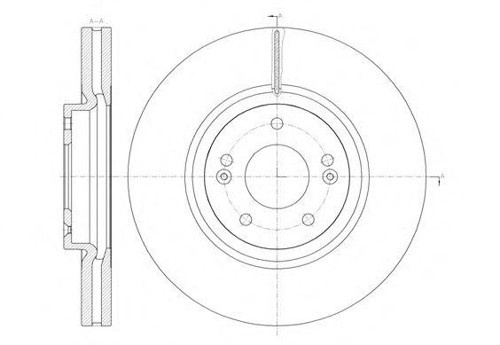 Тормозной диск REMSA арт. 6146210