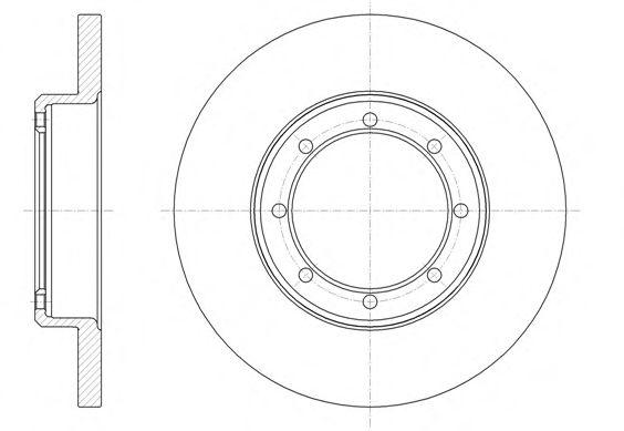 Тормозной диск REMSA арт. 6147600