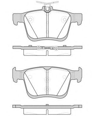 Комплект тормозных колодок, дисковый тормоз REMSA арт. 151600