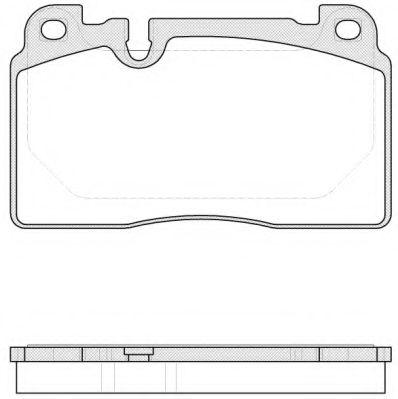 Комплект тормозных колодок, дисковый тормоз REMSA арт. 152700