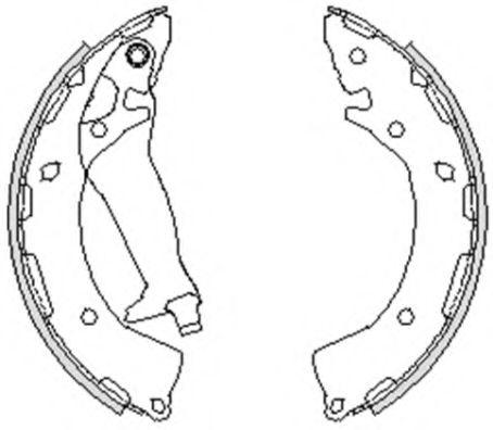 Комплект тормозных колодок REMSA арт.