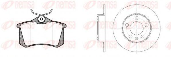 Комплект тормозов, дисковый тормозной механизм REMSA арт.