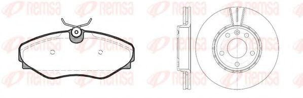 Комплект тормозов, дисковый тормозной механизм REMSA арт. 883401